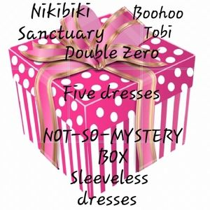 Not-So-Mystery box of 5 dresses, resell or keep